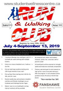Run and Walking Club Poster